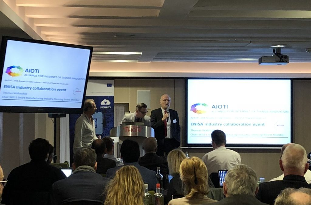 AIOTI's Thomas Walloschke spoke at the ENISA Industry Event – Certification, IoT and collaboration on 24 April