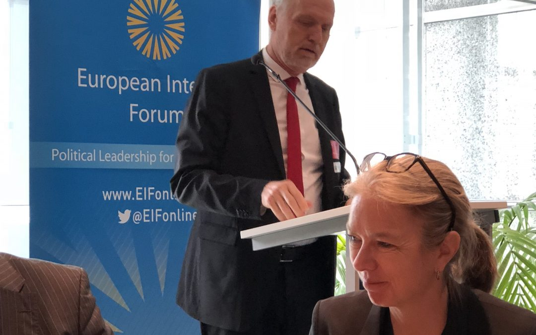 AIOTI's Thomas Walloschke spoke at the EIF event The impact of Internet of Things on European industries on 24 April