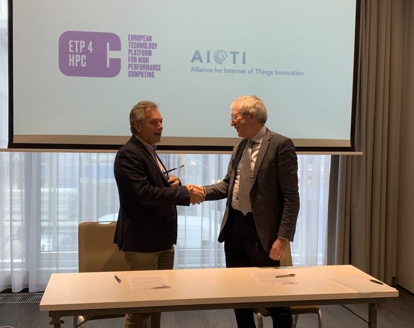 AIOTI signed memorandum of understanding with ETP4HPC
