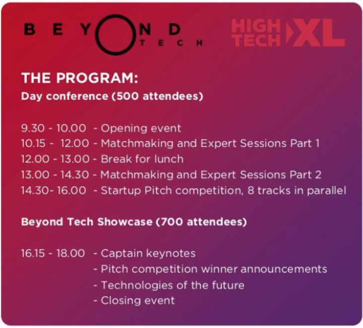 Beyond Tech Showcase, 11 April 2019, Eindhoven, the Netherlands